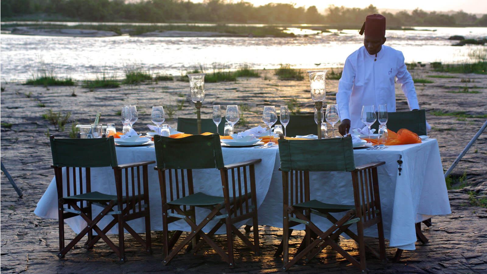 Dining on Safari