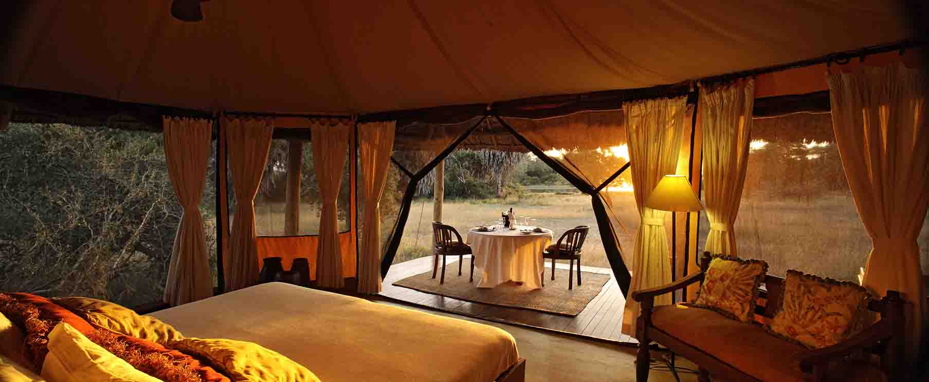 Glamping in Siwandu Tents