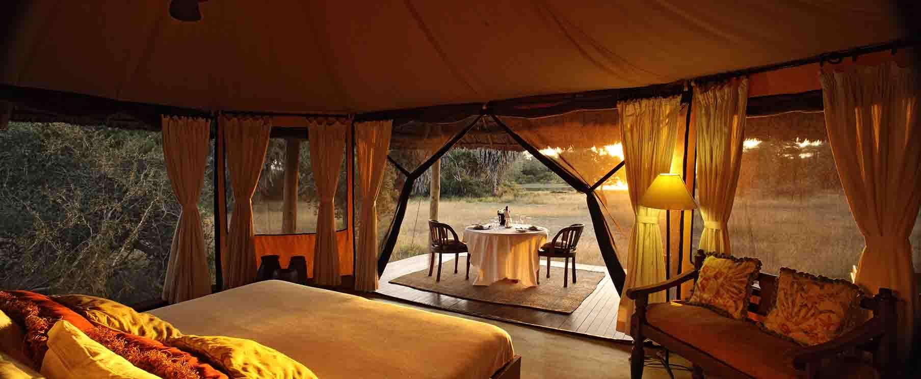 Glamping in Siwandu Tents