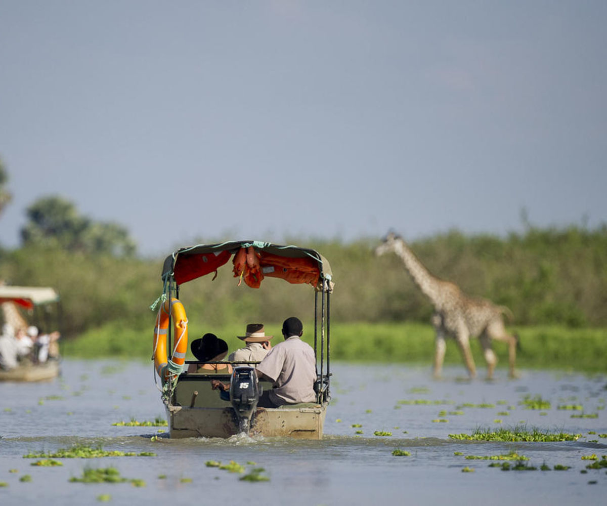 Boating safari in Selous